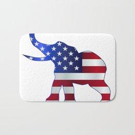 Republican Elephant Flag Bath Mat