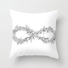 Forever a hippie Throw Pillow
