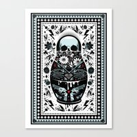 russian Canvas Prints featuring Russian Doll by koivo