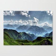 Mountain Peaks in Austria Canvas Print