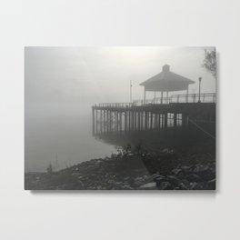 Pier - Mississippi Fog Series Metal Print