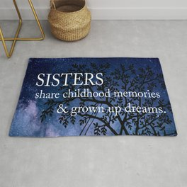 Sisters Quote Rug