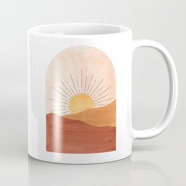 Abstract terracotta landscape, sun and desert Coffee Mug