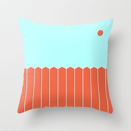 Six and Out Throw Pillow