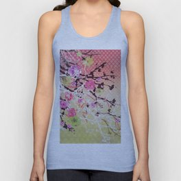 Japanese Cherry Blossom Tree Unisex Tank Top