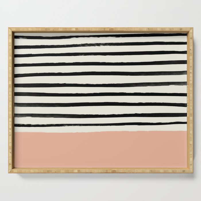 Peach x Stripes Serving Tray