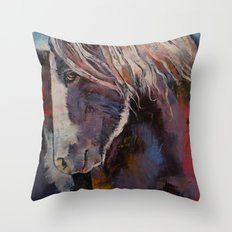 Highland Pony Throw Pillow