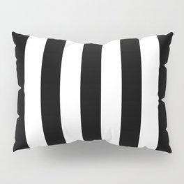 Vertical Stripes (Black/White) Pillow Sham
