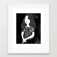 wasted rita Framed Art Prints featuring Rita by Charline Denys