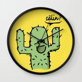 Free Hugs Calin gratuit Wall Clock