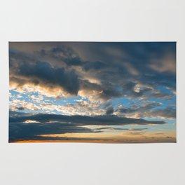 Vibrant Sunrise Cloudscape Rug