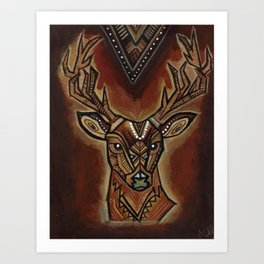 Oh deer, my dear! Art Print