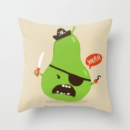 Pear-ate a.k.a The Angry Pirate Throw Pillow