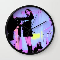 baking Wall Clocks featuring Pop Art Baking Mod by Penny Giforos