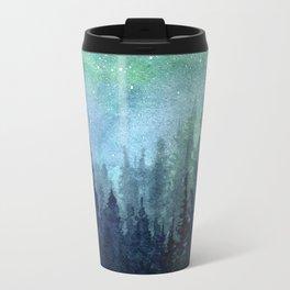 Watercolor Galaxy Nebula Northern Lights Painting Travel Mug