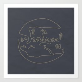 Washington State Art Print