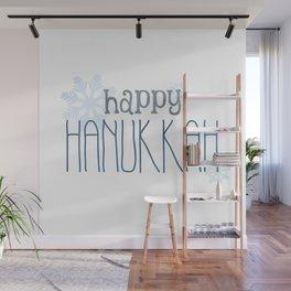 Happy Hanukkah | Snowflakes Wall Mural
