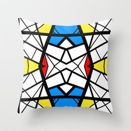 Shattered - geometric graphic design Throw Pillow