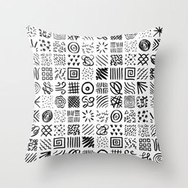 Doodles Throw Pillow