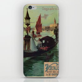 Paris Venice Victorian romantic travel iPhone Skin