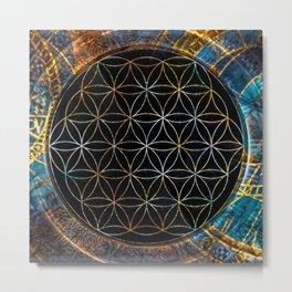 Flower of Life Zodiac 2 Metal Print