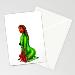 Demon Alien Chick Stationery Cards
