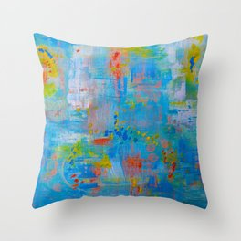 Colorful Abstract Wall Art, Vibrant colors, Contemporary home decor Throw Pillow