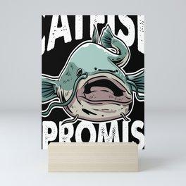 Fisherman Fisher Funny Catfish Fishing Gift Mini Art Print