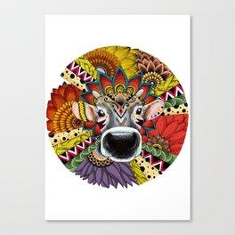 TRIBAL COW Canvas Print