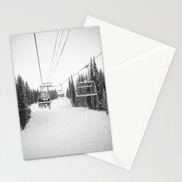 """Ski Lift"" Deep Snow Season Pass Dreams Snowy Winter Mountains Landscape Photography Stationery Cards"