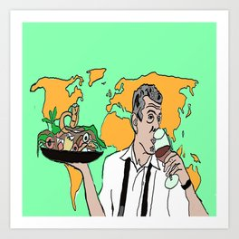 The colorful life of Anthony Bourdain Art Print