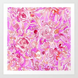 BRAINWASH Pink Floral Art Print