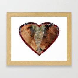 Loving horses Framed Art Print