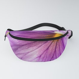 Purple Pansy Flower Close-up #decor #society6 #buyart Fanny Pack