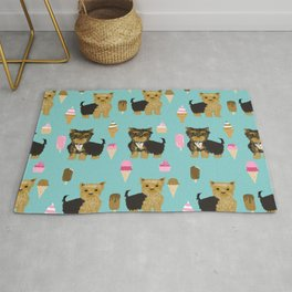 Yorkie ice cream gifts yorkshire terrier dog lover pet friendly patterns minty Rug
