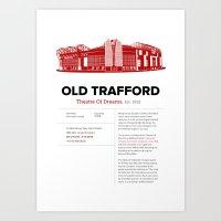 Old Trafford - History&Fact Art Print