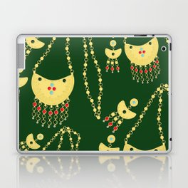 Traditional jewelery green Laptop & iPad Skin
