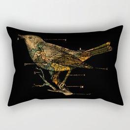 Migration - Vintage Map Wanderlust Bird Rectangular Pillow