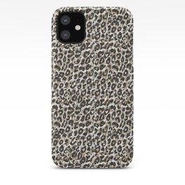 Elegant gold leopard animal print pattern iPhone Case