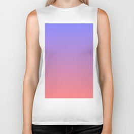 Color gradient 3. Pink and blue.abstraction,abstract,minimalism,plain,ombré Biker Tank