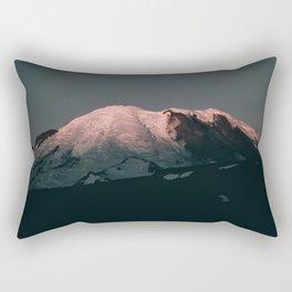 First Light on Mount Rainier Rectangular Pillow