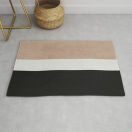 classic - natural, cream and black Rug