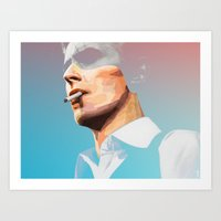 david bowie Art Prints featuring BOWIE by Camila Fernandez