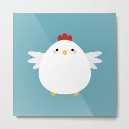 White Chicken Metal Print