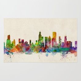 Chicago City Skyline Rug