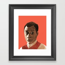 Portrait of James Baldwin Framed Art Print