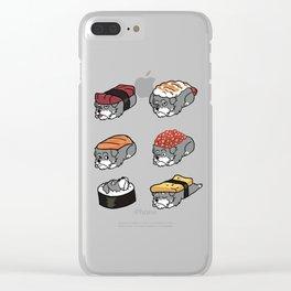Schnauzer Sushi Nigiri Clear iPhone Case