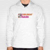 bass Hoodies featuring Drumn' Bass  by Jonah Makes Artstuff