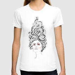 Swirl Girl Art Print T-shirt