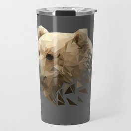 Low Poly Bear--Grey Travel Mug